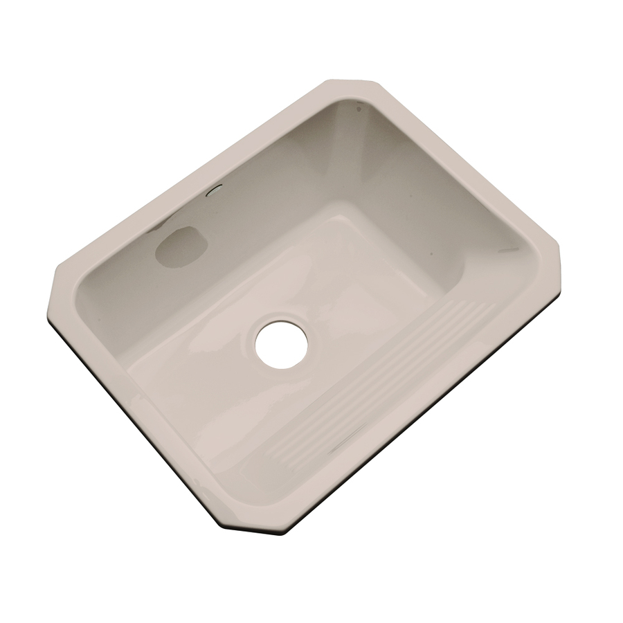 Laundry Undermount Sink : Shop Dekor Fawn Beige Undermount Acrylic Laundry Sink at Lowes.com