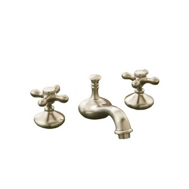 Sign of the Crab Strom Plumbing Polished Nickel 2-Handle Widespread Bathroom Sink Faucet (Drain Included)