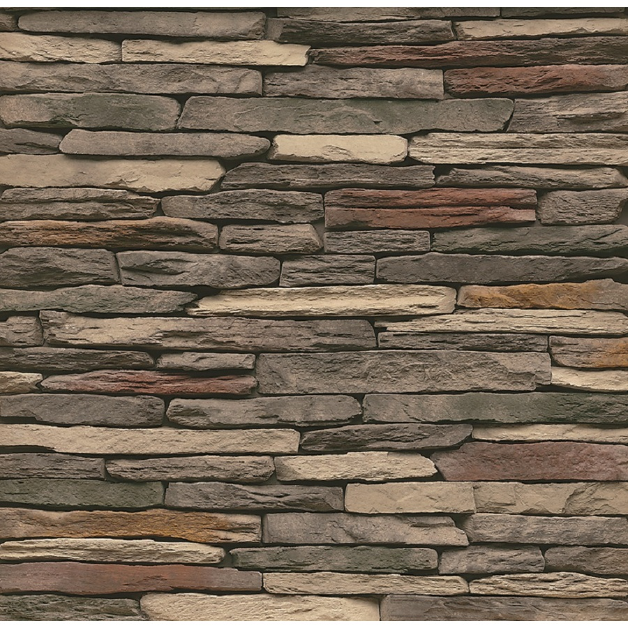 Shop stonecraft 8 linear ft multicolor ledge stone veneer for Stonecraft fireplaces