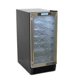 Maxx Ice 28-Bottle Stainless Steel Dual Zone Wine Chiller