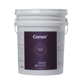 Comex White (Medium Base) Flat Latex Interior Paint (Actual Net Contents: 620-fl oz)