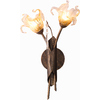 Pyramid Creations 8-in W Bloom 2-Light Antique Bronze Arm Wall Sconce