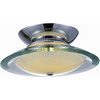 Pyramid Creations 9-in W Polished Chrome Ceiling Flush Mount
