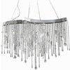 Pyramid Creations Crystal Sensation 18-in W Polished Chrome Pendant Light with Clear Glass Shade
