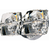 Pyramid Creations 9-in W Neo 2-Light Polished Chrome Arm Wall Sconce