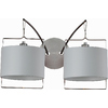 Pyramid Creations Passion 16-in W 2-Light Satin Nickel / Polished Chrome Arm Hardwired Wall Sconce