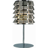 Pyramid Creations 19-in 3-Way Polished Chrome Table Lamp with Shade