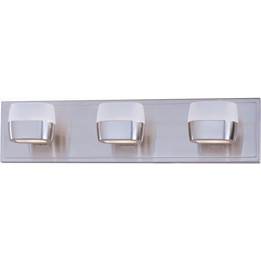 Bathroom Vanity Lights Satin Nickel : Shop Pyramid Creations 3-Light Ellipse Satin Nickel Bathroom Vanity Light at Lowes.com