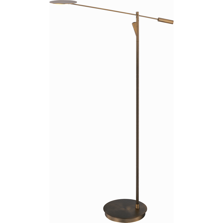 Shop pyramid creations 58 in bronze led torchiere indoor for Mexico led floor lamp