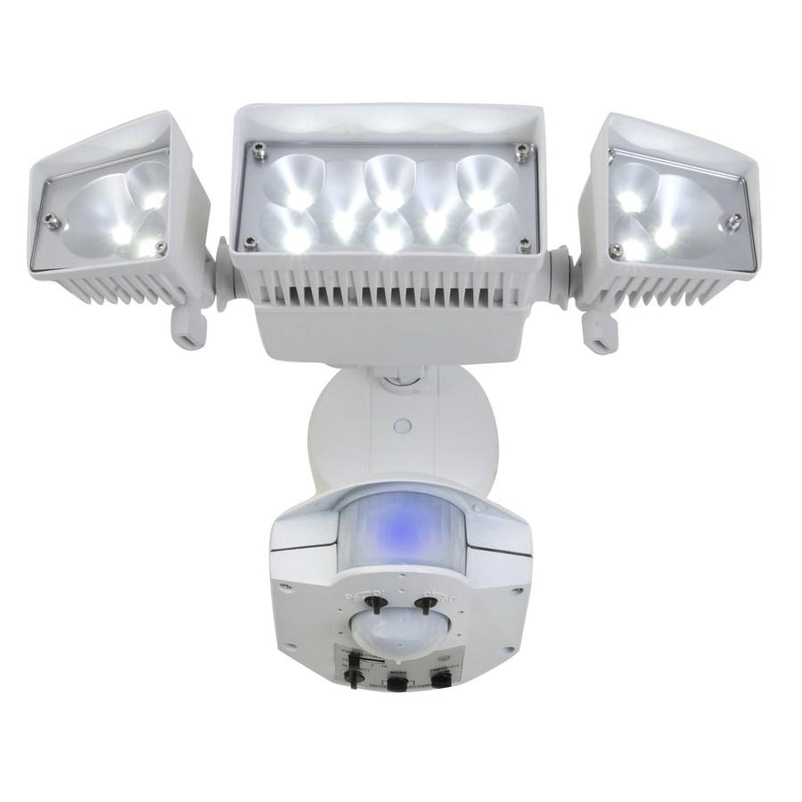 Lowe S Motion Sensor Lights Inside: Shop Utilitech 360-Degree 3-Head Dual Detection Zone White