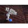 Utilitech 360-Degree 3-Head Dual Detection Zone White Led Motion-Activated Flood Light Timer Included