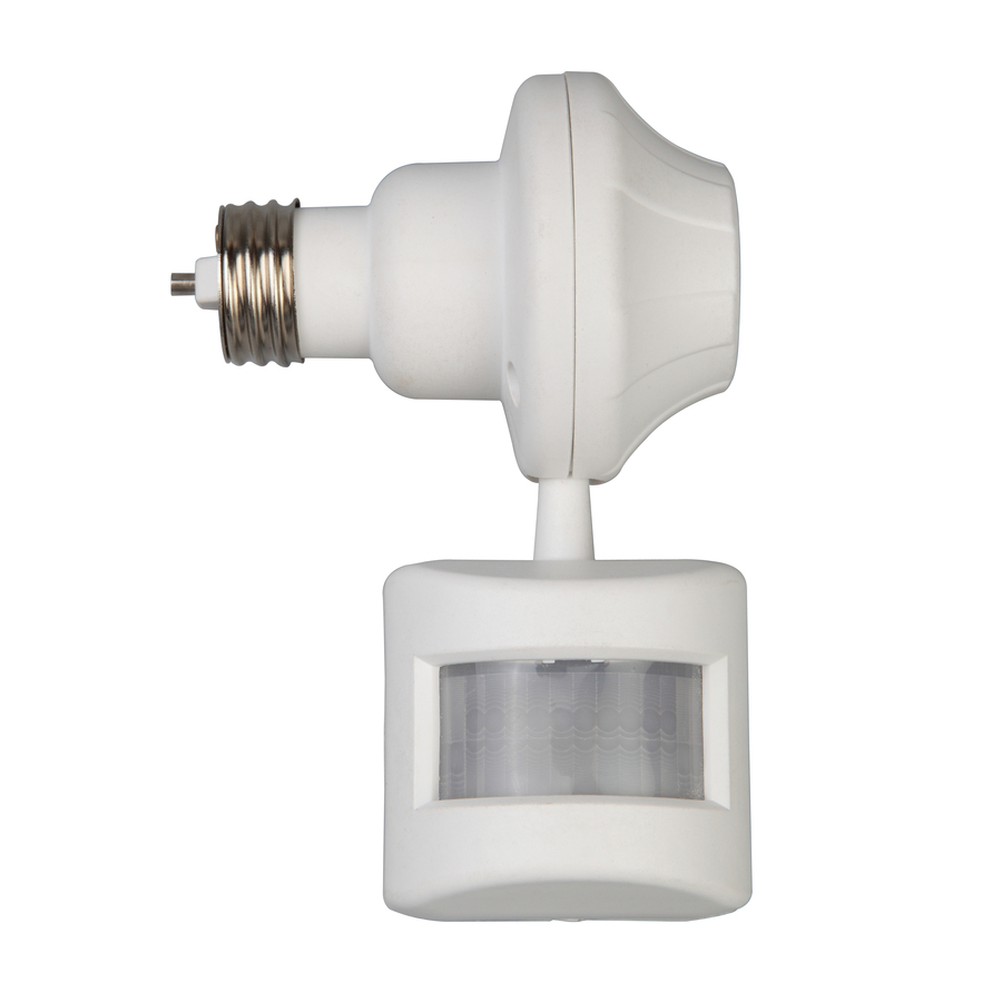 Battery Operated Flood Lights With Timer : Utilitech degree head white halogen motion