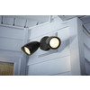 Utilitech Pro 4.13-in 2-Head LED Black Switch-Controlled Flood Light