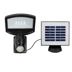 Utilitech Pro 180-Degree 1-Head Black Solar Powered Led Motion-Activated Flood Light Timer Included