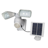 Utilitech Pro 180-Degree 2-Head White Solar Powered Led Motion-Activated Flood Light Timer Included