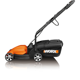 WORX IntelliCut 24-Volt Lead Acid 14-in Deck Width Cordless Electric Push Lawn Mower with Mulching Capability
