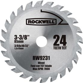 ROCKWELL 3-3/8-in 24-Tooth Continuous Circular Saw Blade