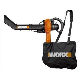 WORX 12-Amp 385-CFM 240-MPH Heavy-Duty Corded Electric Leaf Blower with Vacuum Kit
