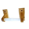 Project Source Colonial Oak Surface Mount Toilet Paper Holder