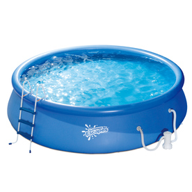 Shop Summer Escapes Summer Escapes 14 Ft X 14 Ft X 42 In Round Above Ground Pool At