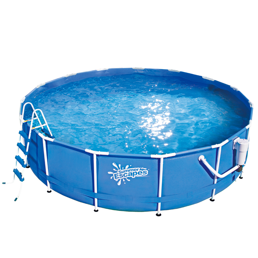 Shop summer escapes summer escapes 15 ft x 15 ft x 48 in for 20 ft garden pool