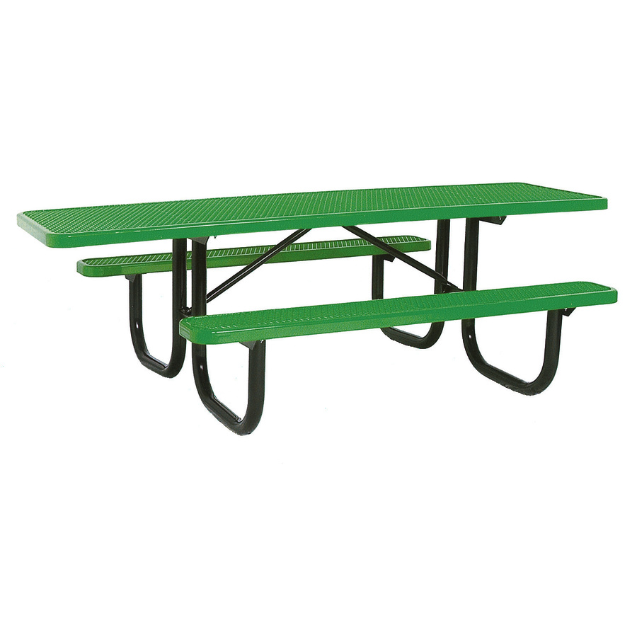 Shop Ultra Play 8-ft Green Steel Rectangle Picnic Table at Lowes.com