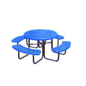 Ultra Play 46-in Blue Steel Round Picnic Table