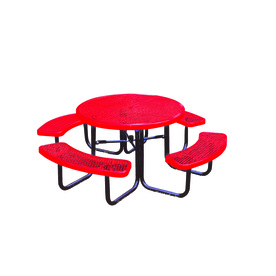 Ultra Play 46-in Red Steel Round Picnic Table