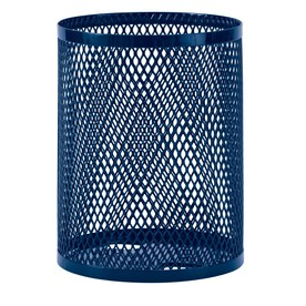 Ultra Play UltraCoat 32-Gallon Blue Thermoplastic Coating Commercial Outdoor Trash Can