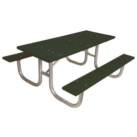 Ultra Play 72-in Green Recycled Plastic Rectangle Picnic Table