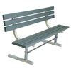 Ultra Play 72-in L Recycled Plastic Park Bench
