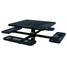 Ultra Play 46-in Black Steel Square Picnic Table