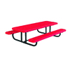 Ultra Play 96-in Red Steel Rectangle Picnic Table