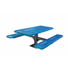 Ultra Play 72-in Blue Steel Rectangle Picnic Table