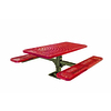 Ultra Play 72-in Red Steel Rectangle Picnic Table