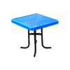 Ultra Play 36-in Blue Steel Square Picnic Table