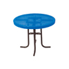 Ultra Play 3-ft Blue Steel Round Picnic Table