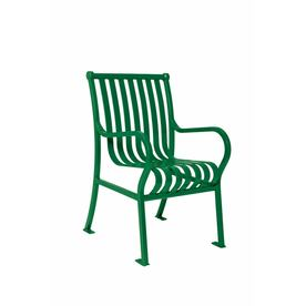 Ultra Play 20-in L x 25-in D x 36-in H Hamilton Series Steel Powder Coated Green Park Chair