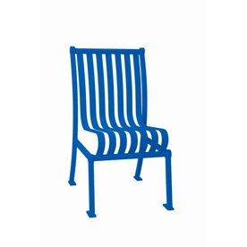Ultra Play 20-in L x 25-in D x 36-in H Hamilton Series Steel Powder Coated Blue Park Chair