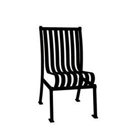 Ultra Play 20-in L x 25-in D x 36-in H Hamilton Series Steel Powder Coated Black Park Chair