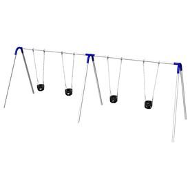Ultra Play Blue/Galvanized Steel Freestanding Swings