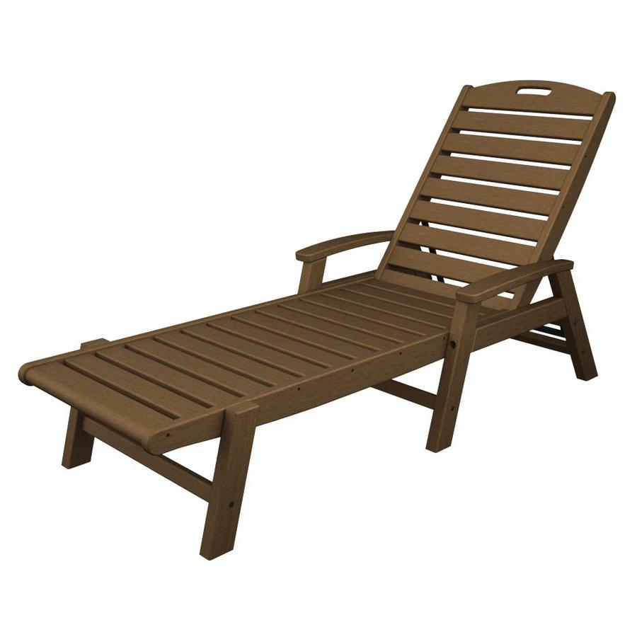 Shop trex outdoor furniture yacht club slat seat plastic for Alyssa outdoor chaise lounge