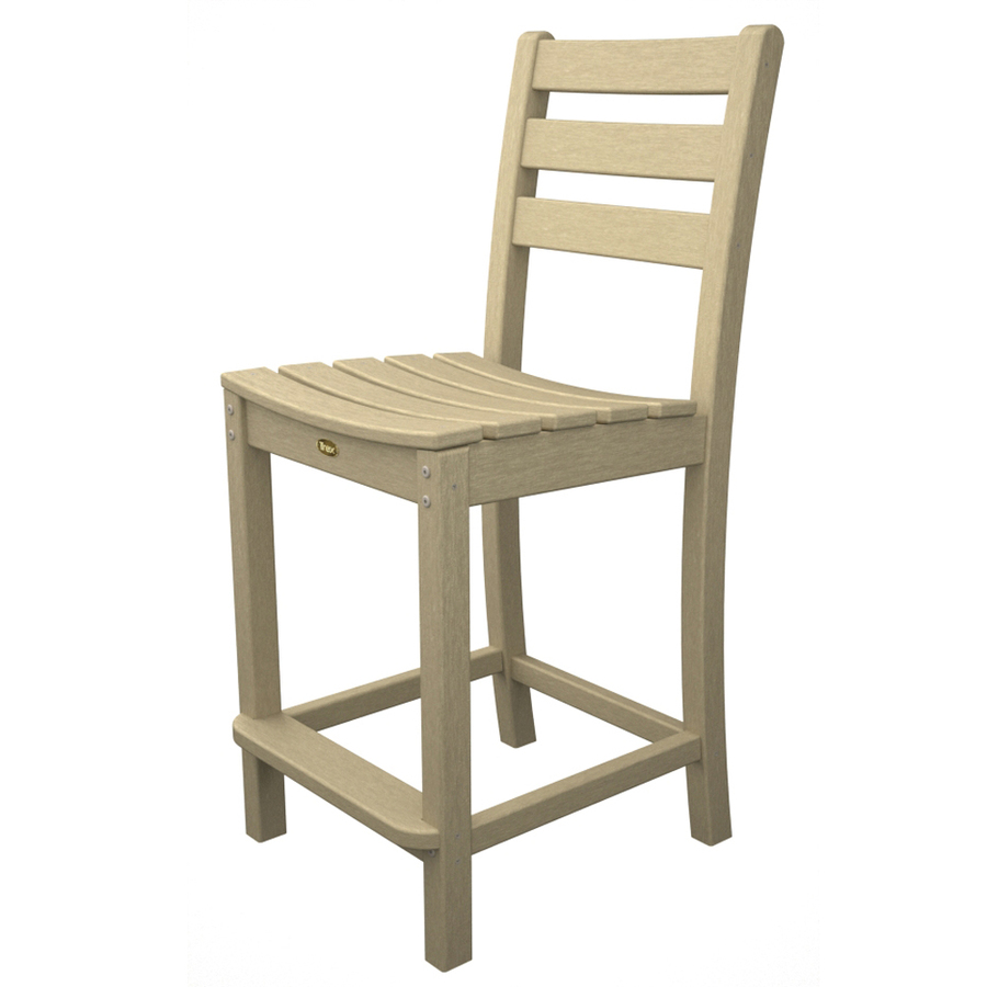 Shop Trex Outdoor Furniture Monterey Bay Slat Seat Plastic Patio Bar Height Chair At
