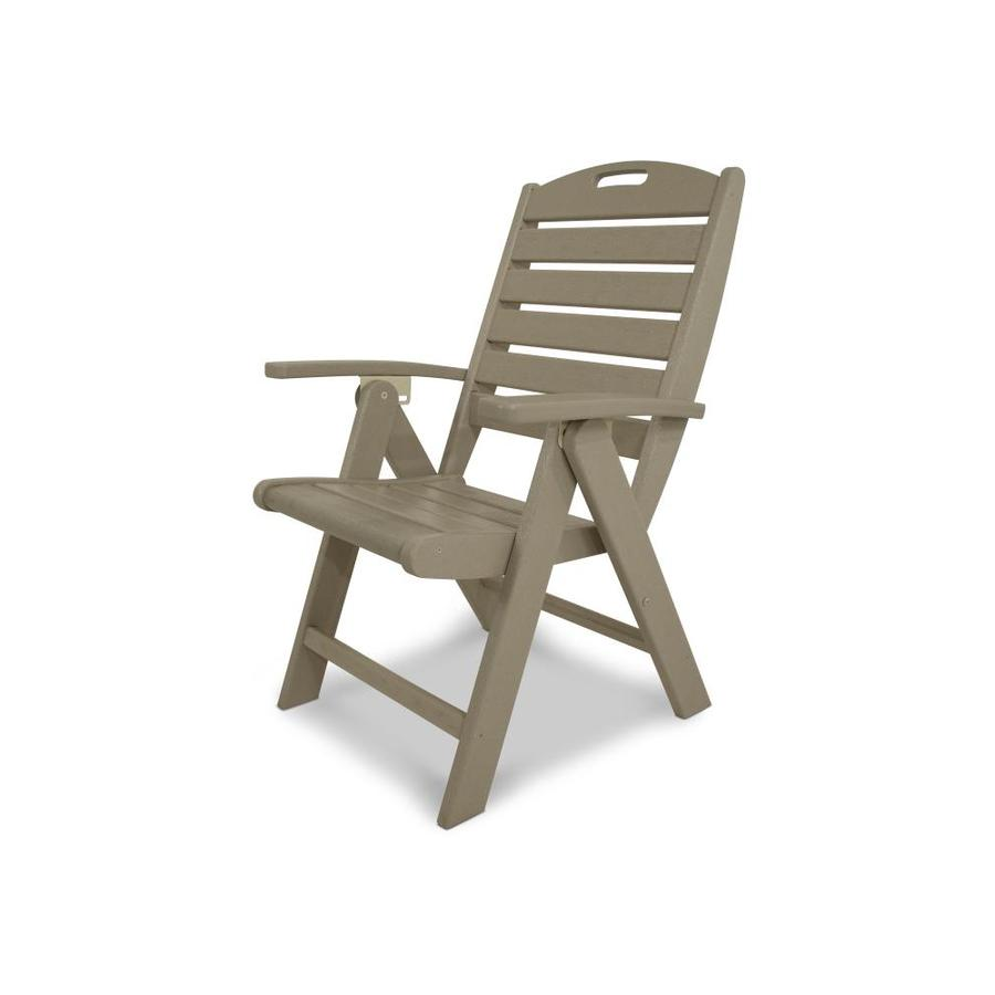 Shop trex outdoor furniture yacht club sand castle slat seat plastic patio dining chair at Plastic outdoor furniture