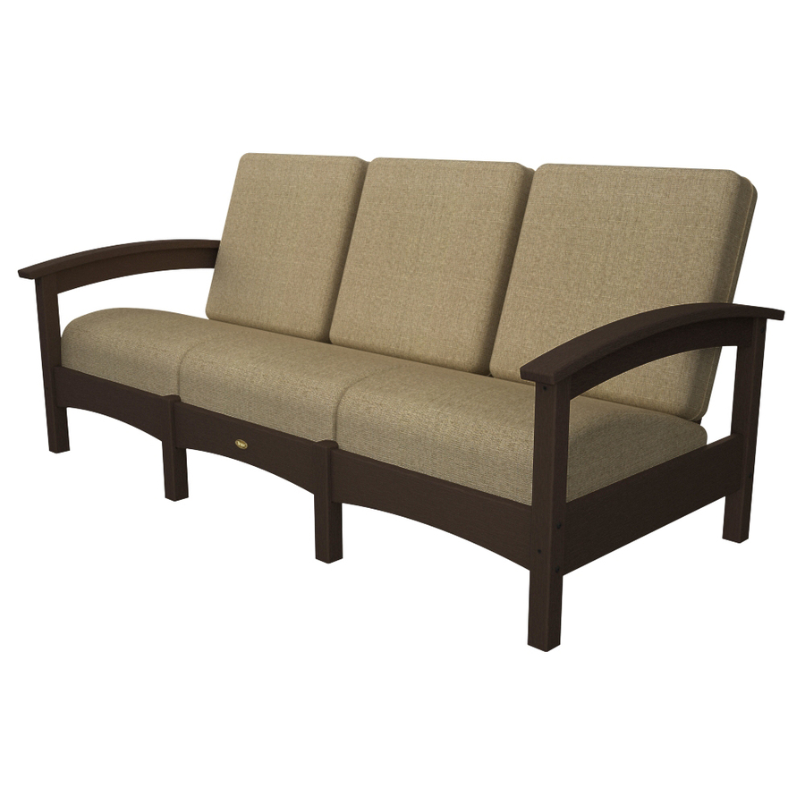 Shop Trex Outdoor Furniture Rockport Vintage Lantern Plastic Cushioned Patio Sofa At