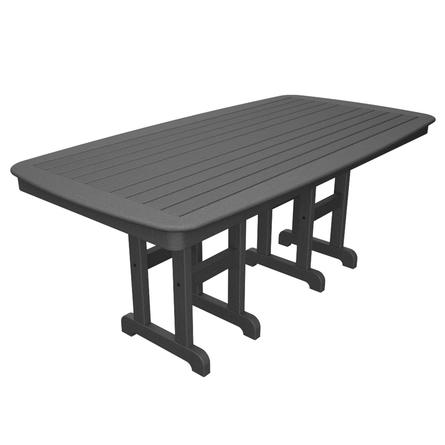 75 In Stepping Stone Plastic Rectangle Patio Dining Table At