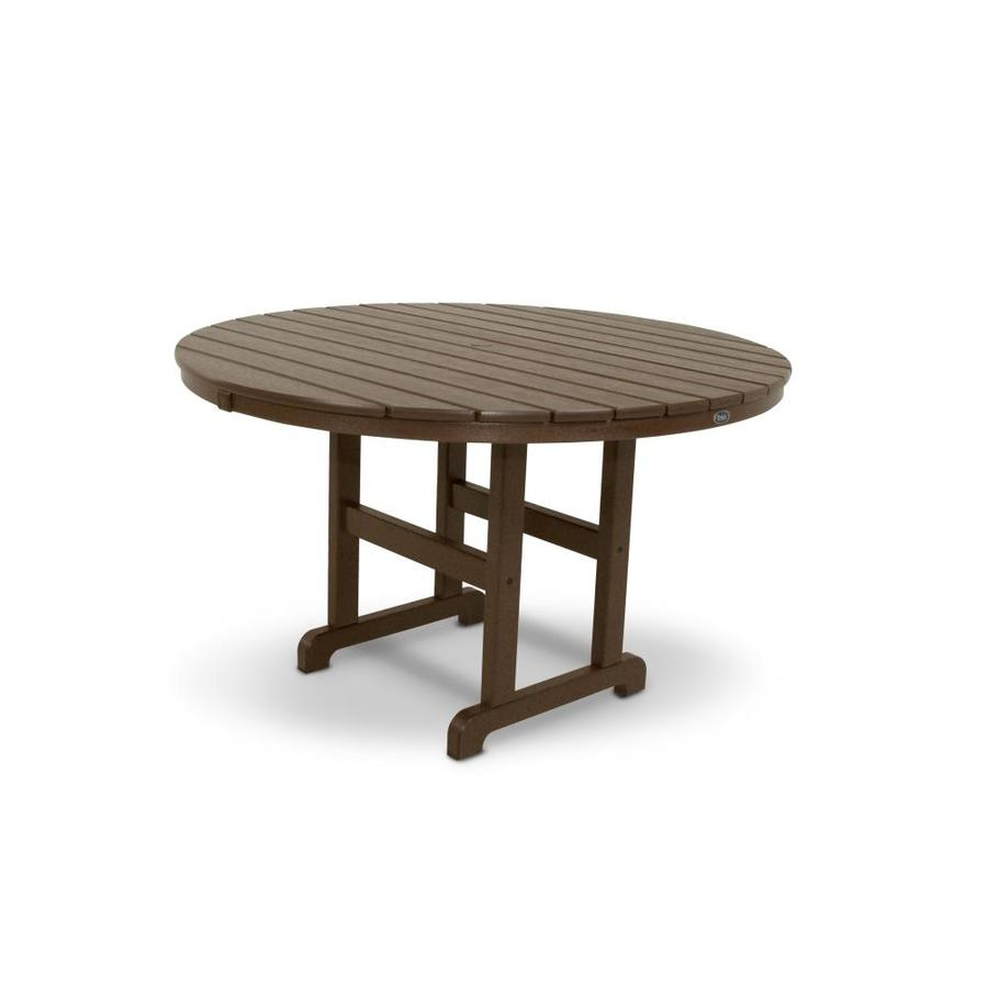 Shop trex outdoor furniture monterey bay 48 in vintage for Garden patio table
