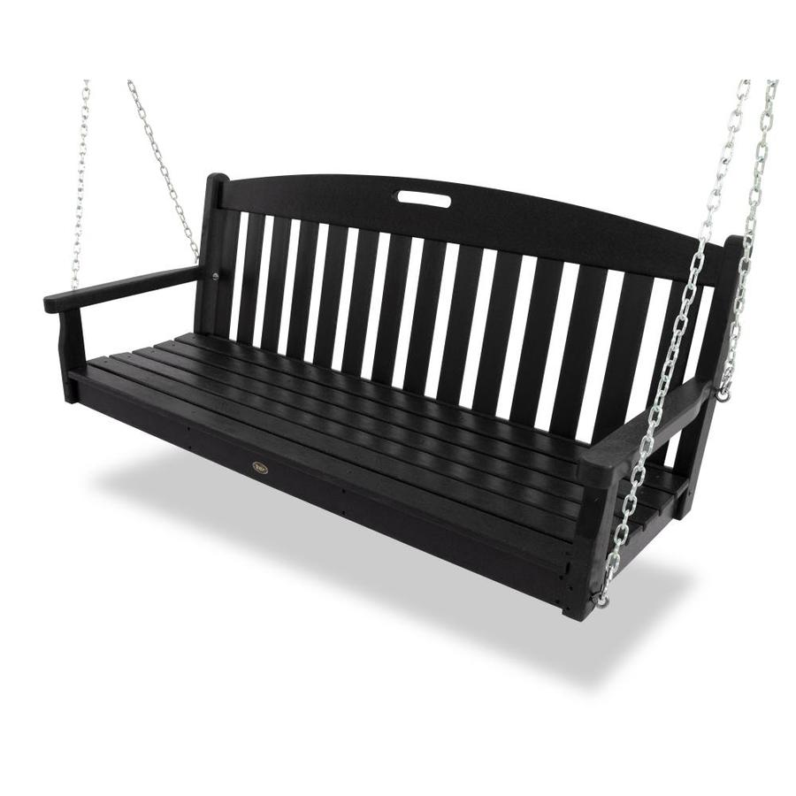 shop trex outdoor furniture 3 seat plastic casual charcoal