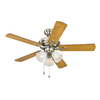 Harbor Breeze 42-in Brushed Nickel Ceiling Fan with Light Kit