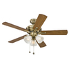 Harbor Breeze 42-in Antique Brass Ceiling Fan with Light Kit